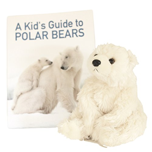 Plush Toy Polar Bear with Picture Book - Gift Set \ Bundle for Kids Who Love Soft & Cuddly Stuffed Animals (Ages 3-6)