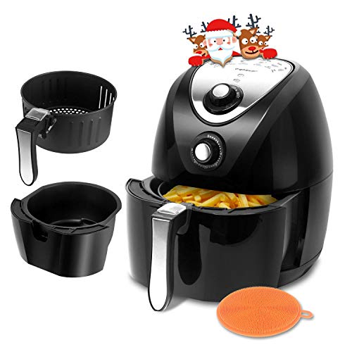 Dragon Air Package - Aigostar Dragon Pro 1400W 3.4QT Air Fryer Oil Free with Rapid Air Circulation System - Non-Stick Fry Basket, Dishwasher Safe, Timer and Temperature Control For Healthy Fried Food, Black