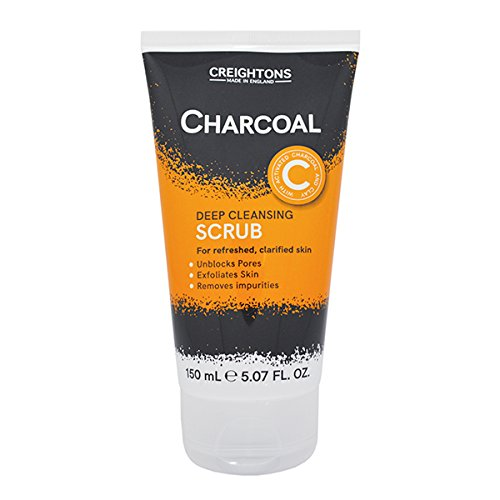 Charcoal Scrub | Deep Cleansing Scrub | For Refreshed, Clarified Skin | Deep Cleansing | Exfoliates Skin | Unblocks Pores | Removes Impurities | Exfoliator |150mL | Made In UK creightons
