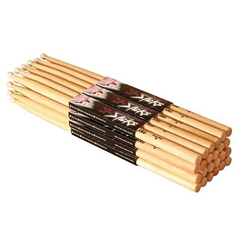 On Stage 5A Maple Drum Sticks - (Nylon Tip, 12 Pak) (12 Pack) (Nylon Tip) ()