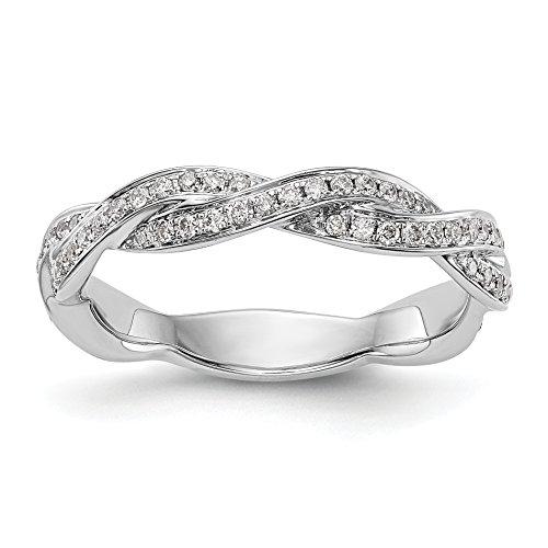 14k White Gold Diamond Wedding Band (0.375 Ct Diamond)