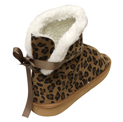 C ankle Tan back warm snow bow ribbon silk Womens boots Cupcake comfort Label casual suede winter knot 116 rqA4rU