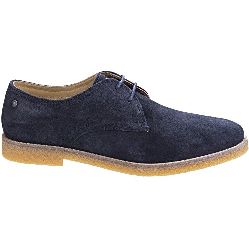 Base London Mens Whitlock Suede Leather Casual Derby Shoes Navy