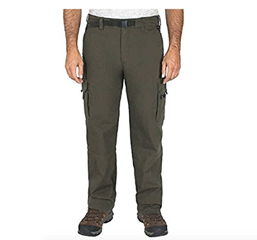 BC Clothing Mens Cotton Lined Adjustable Belted Cargo Pants (XXLx30, Army)
