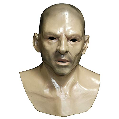 Realistic Old Man Latex Mask Human Full Face Mask Fantasy Costume Halloween Party Props -