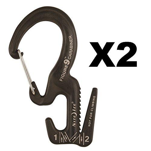 Nite Ize Figure 9 Carabiner Small Rope Tightener Aluminum Tie Down Tool - Rope Tightener Figure Tool 9