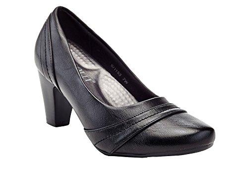 Black On Dress Toe Round Women's Pump 1153 Comfort Slip Rasolli Career 1IqaUwz1x