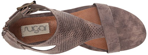 T Open Womens bar Wedge Wigout Womens' Taupe Buckle Wigout Demi Sandal Perf Sugar Toe 0Yxd8qCwC