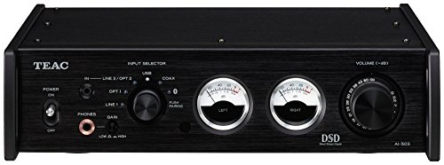 TEAC AI-503 Reference Bluetooth DSD DAC / Integrated Amp / Preamp / Headphone Amp (Black)