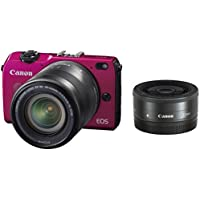 Canon EOS M2 Mirrorless Digital Camera with EF-M 18-55mm + EF-M 22mm + EX90 Flash + EF-M Adapter Kit - International Version (No Warranty) Key Pieces Review Image