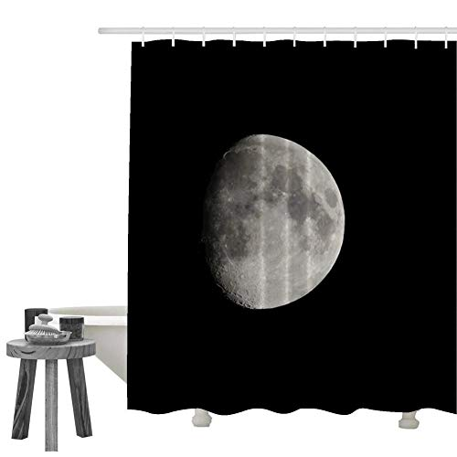 KIMOVE Fabric Shower Curtains Liners Waterproof Stall Shower Curtains for Bathroom,Printing Bath Curtains (moon-4156226) with 60 X 72 Inch / 72 X 72 Inch / 70 X 84 Inch