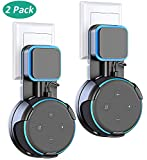 Bovon 2 Packs for Dot 3rd Generation Wall Mount Outlet Stand Holder with Anti-Slip Rubber Gasket, Exposed Speaker Grill, Mic and Lights, Best Space-Saving Accessories Without Wire Clutter