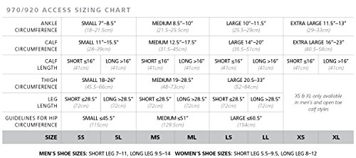 a916e9143a SIGVARIS. 970 Access Series 20-30 mmHg Unisex Open Toe Thigh High Sock  Size: Medium Long (ML)