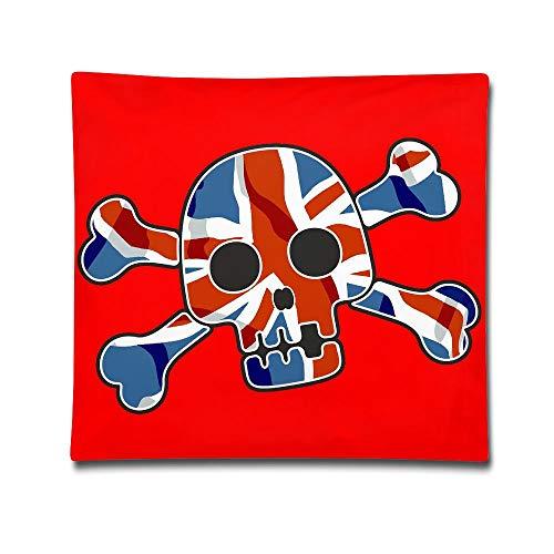 Kjaoi 1818 Inches Pillow Case UK Flag Skull