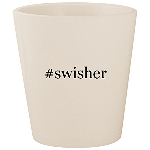#swisher - White Hashtag Ceramic 1.5oz Shot Glass