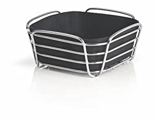 Blomus DELARA - cestas para pan (Negro, Algodón, Acero, Plaza)