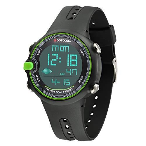 Sports Digital Watch Soft Strap Wrist Watch Waterproof Swimming Outdoor Activities Teenager
