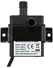 Decoe Ultra-Quiet Mini DC12V 4.5W Micro Brushless Water Oil Pump Waterproof Submersible Fountain Aquarium Circulating 240L/H Lift 300cm