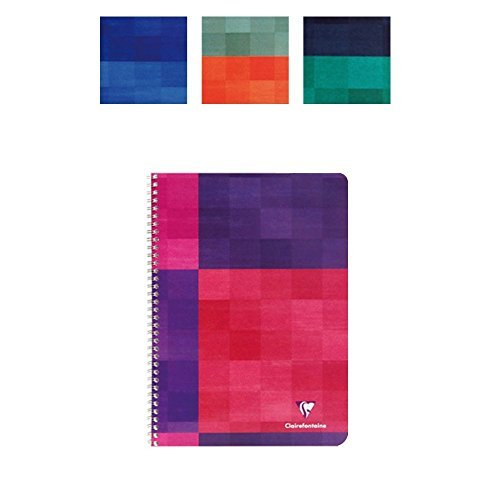 Clairefontaine Side Wirebound Notebook, Graph. 5 Pack. 8.25x11.75 by Clairefontaine