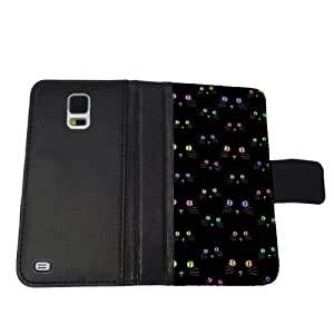 Color Cat Eyes - Samsung S5 Leather Wallet Case