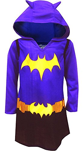 DC Comics Dress Like Batgirl Hooded Nightgown for Big Girls (7/8) by Komar Kids
