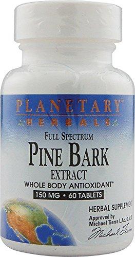 Full Spectrum Pine Bark Extract 150mg Planetary Herbals 60 Tabs ()