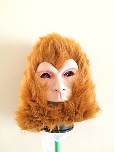 Monkey Full Head Mask,Dance Party Mask for Halloween,Costume,Easter,Cosplay by Maskshow