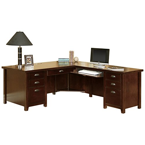 kathy ireland Home by Martin Tribeca Loft Cherry Right L-Shaped Desk - Kathy Ireland Tribeca Loft