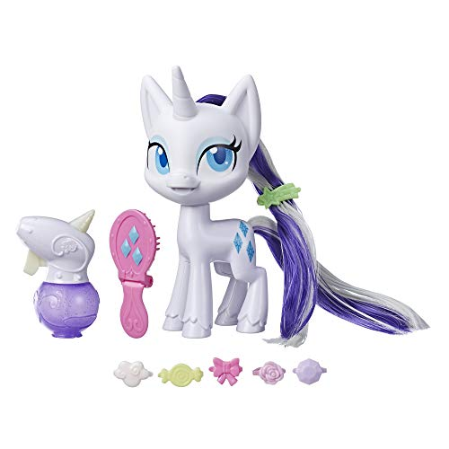 """My Little Pony Magical Mane Rarity Toy -- 6.5"""" Hair-Styling Pony Figure with Hair That Grows & Changes Color, 10 Surprise Accessories"""