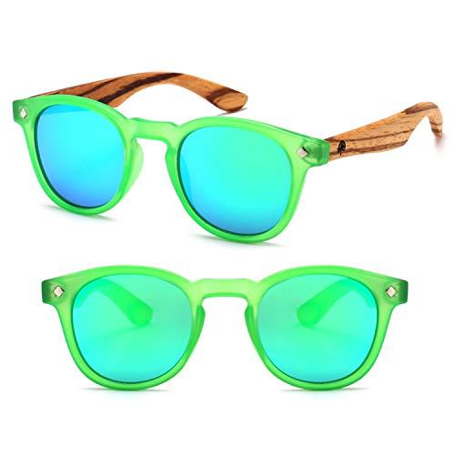 Wildwood Cat Eye Kids Polarized Sunglasses - 4 to 8 years (Green)