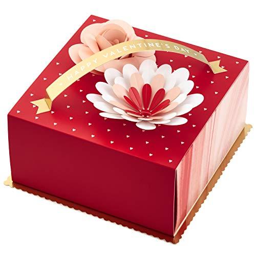 (Hallmark Paper Wonder Medium Valentines Gift Box (Flowers), Red - 5JVG1929 )