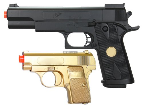 Gold Pistol - BBTac BT-P169(1+1) P169 Airsoft Pistol Package, Gold