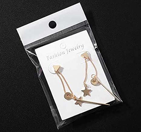 Amazon Com 50 Pcs White Jewelry Earring Display Cards With