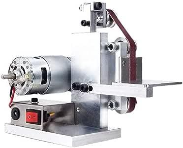 aikeec DIY Mini Belt Sander Electric Knife Apex Edge Sharpener Multifunctional Polishing Grinding Machine with 7 Speed Power Supply for Plastic, Aluminium, Iron, Steel and Metal Polishing