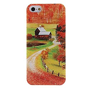 SHOUJIKE Autumn Path Pattern Hard Case with Mirror for iPhone 5/5S