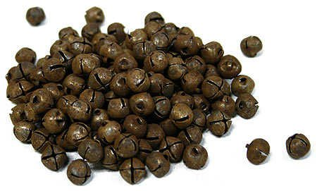 Bulk Package of 144 Primitive Rusted Metal 1/2'' Jingle Bells