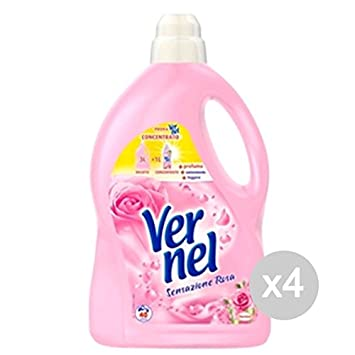 Juego 4 Vernel Suavizante LT 3 rosa tacto 40 Mis Detergente ...