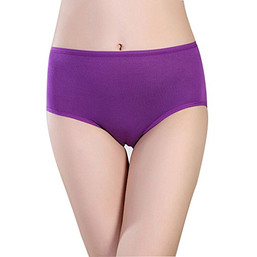 GoBest Women's Leakproof Menstrual Period Panties Bamboo Fiber Physiological Panties Purple XL