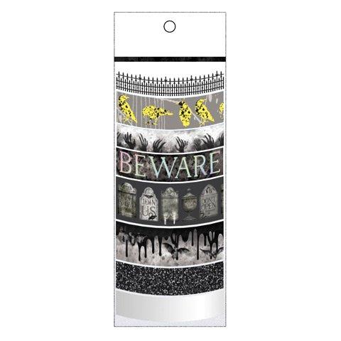 Halloween Graveyard Washi Tape Black Assortment - 8 Spools -