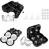 LBLA 3PACK Ice Cube Trays Silicone Ice Cube Mould Ice Ball Maker Diamond Skull Shape Cube Maker with Removable Lids…