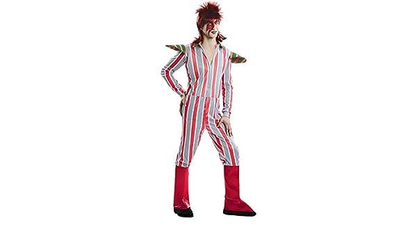EUROCARNAVALES, SA Disfraz de David Bowie para Hombre M/L: Amazon ...