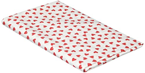Hearts Quilt Fabric (SheetWorld Primary Hearts Red Woven Fabric - By The Yard)