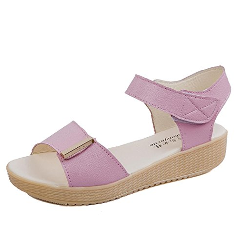 Sandals Beaded Sweet Sandals Summer Women Beach Shoes Inkach Pink Summer cfOxqpWWA