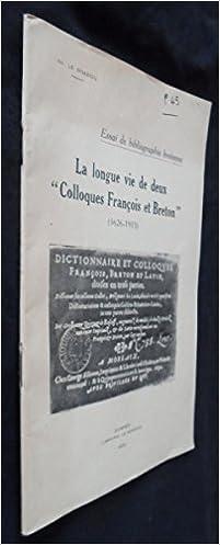 """Livre gratuits en ligne La longue vie de deux """"Colloques François et Breton"""" (1626-1915) pdf, epub ebook"""