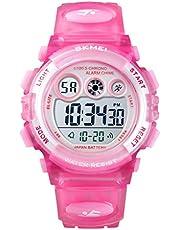 SKMEI Kids Sports Watch, Waterproof Multifunctional Digital Display Sports Outdoor Birthday Gifts Light Blue for Children