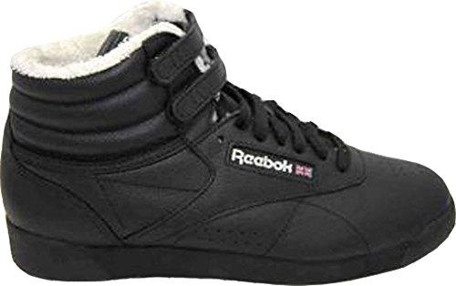 Reebok Freestyle Hi Snow Intl. Weiches Leder, Fellgefüttert, Bequem, dämpfend, strapazierfähig und Komfortabel, Größe Euro 40 / US 9 / UK 6,5 / 26 cm