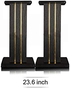 Cherry Wood, 35.4 Inch GDHD S008 Authentic Wooden Bookshelf Speaker Stand Pair with Energy Absorbing Design Idea for Home Theater System Karaoke System
