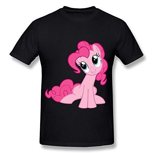 WYMY Men's T-shirt My Little Pony Rainbow Pony Size XL Black