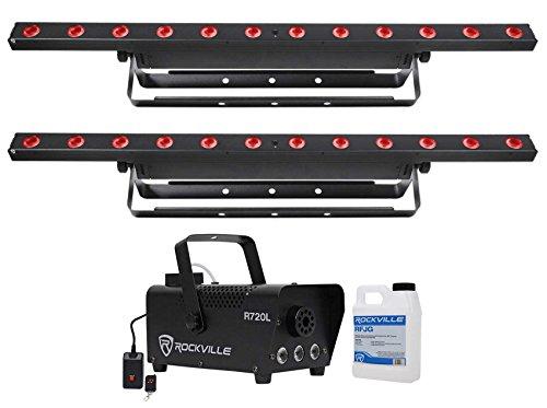 (2) Chauvet COLORband T3 BT Bluetooth DMX Linear Wash Light Strips+LED Fogger