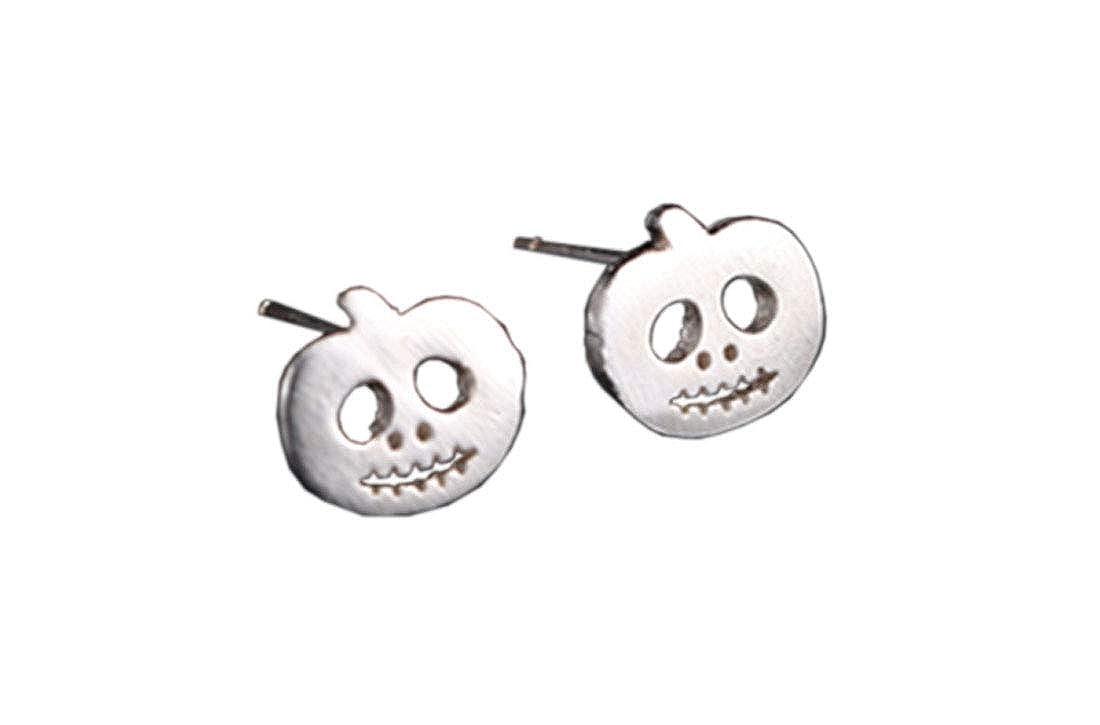 ACVIP Womens Girls Halloween Ghost Squash Earring Studs